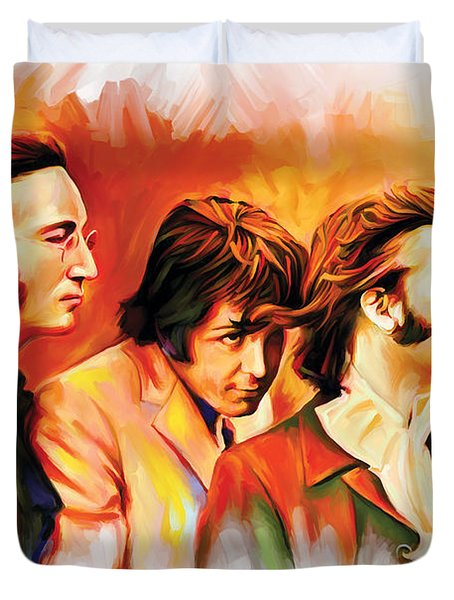 The Beatles Artwork Duvet Cover by Sheraz A