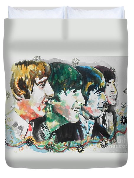 The Beatles 01 Duvet Cover by Chrisann Ellis