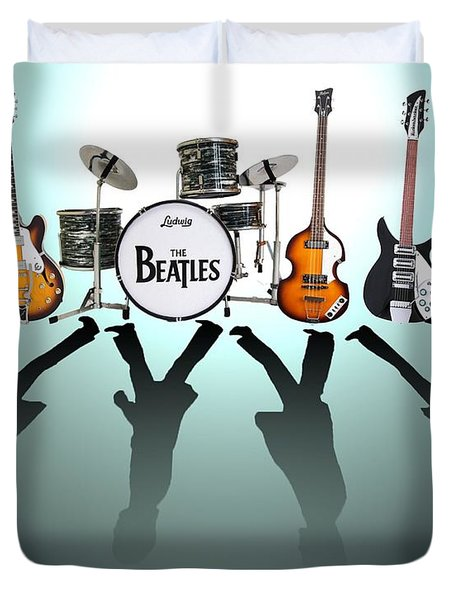 The Beatles Duvet Cover by Lena Day