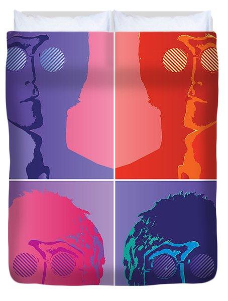 The Beatles No.10 Duvet Cover by Caio Caldas