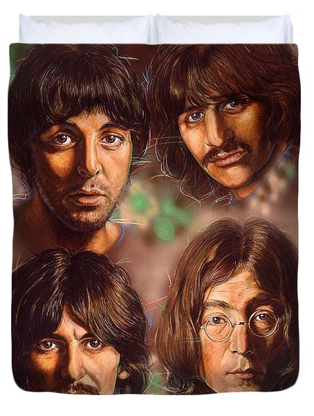 The Beatles Duvet Cover by Tim  Scoggins
