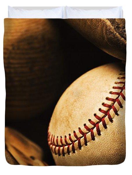 The Beautiful Game Duvet Cover by Karen Shukle