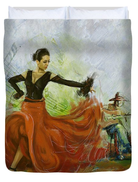 The Beauty Of Music And Dance Duvet Cover by Corporate Art Task Force