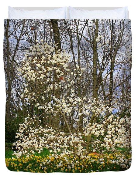 The Beauty Of Spring Duvet Cover by Dora Sofia Caputo Photographic Art and Design