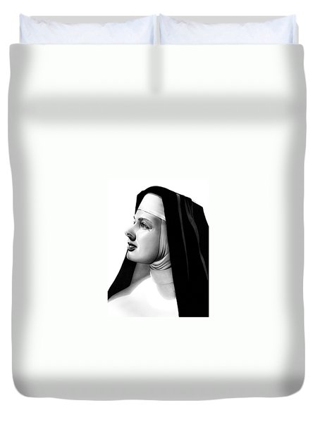 The Bell's Of St. Mary's Sister Mary Benedict Duvet Cover by Fred Larucci