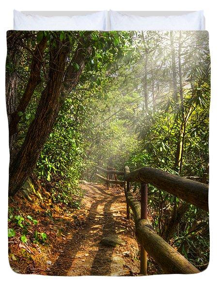 The Benton Trail Duvet Cover by Debra and Dave Vanderlaan