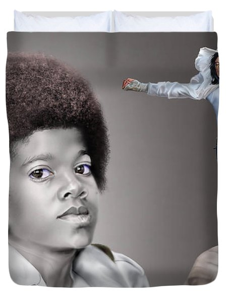 The Best Of Me - Handle With Care - Michael Jacksons Duvet Cover by Reggie Duffie