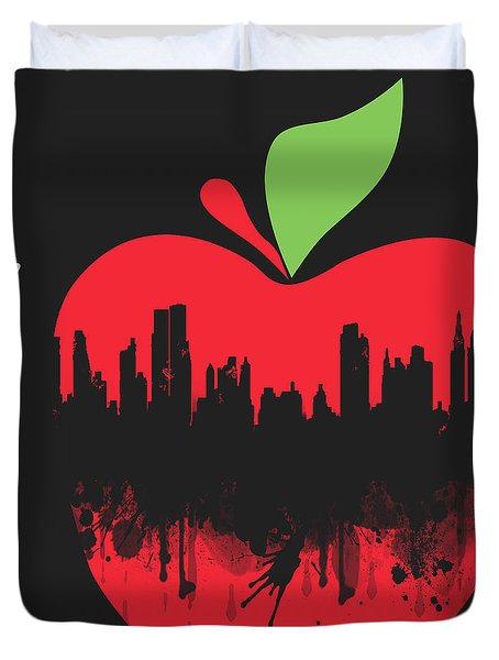 the Big Apple Duvet Cover by Mark Ashkenazi