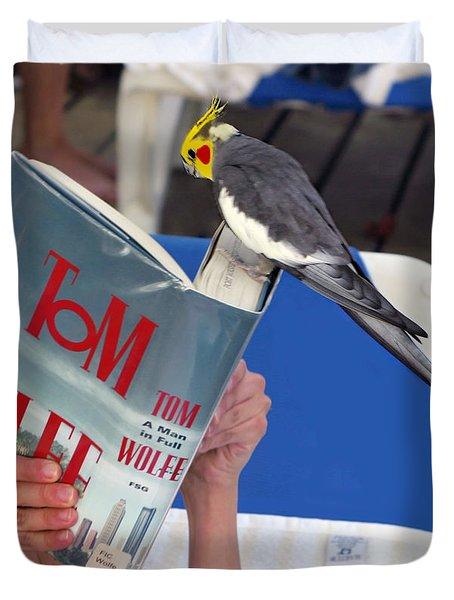 The Bird Brain Duvet Cover by Madeline Ellis