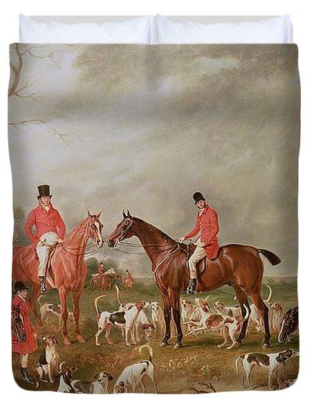 The Birton Hunt Duvet Cover by John E Ferneley