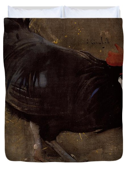 The Black Cock Duvet Cover by Joseph Crawhall