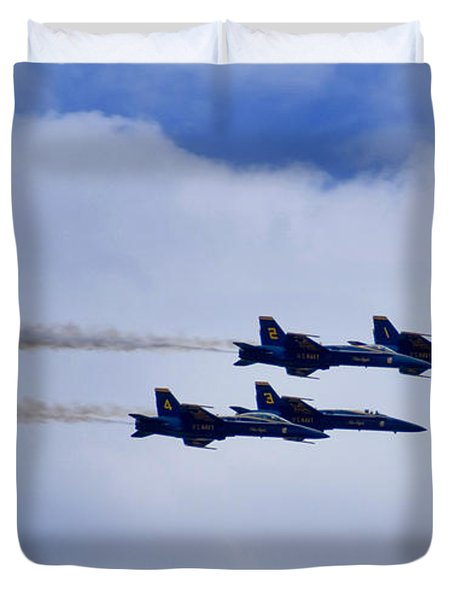 The Blue Angels Duvet Cover by Benjamin Reed