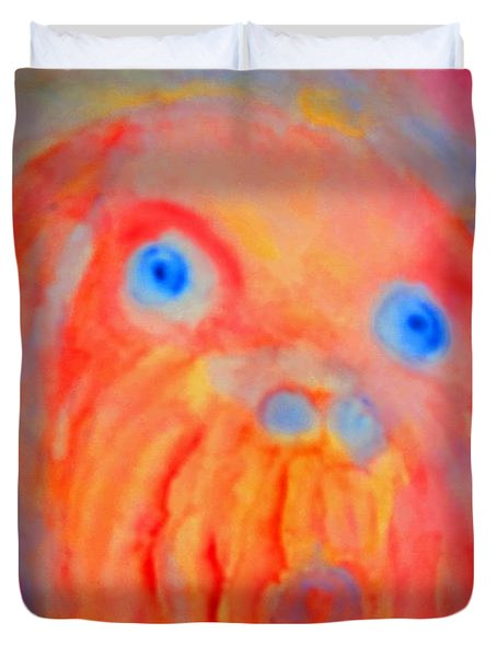 the blue eyed hulder Duvet Cover by Hilde Widerberg