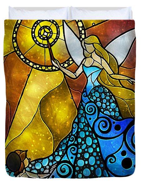 The Blue Fairy Duvet Cover by Mandie Manzano