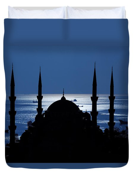 The Blue Mosque Duvet Cover by Ayhan Altun