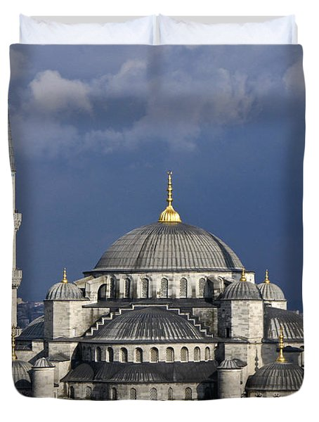The Blue Mosque In Istanbul Duvet Cover by Michele Burgess