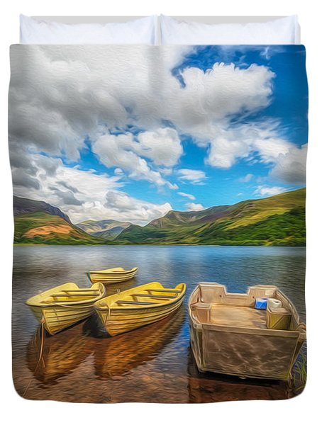 The Boats  Duvet Cover by Adrian Evans