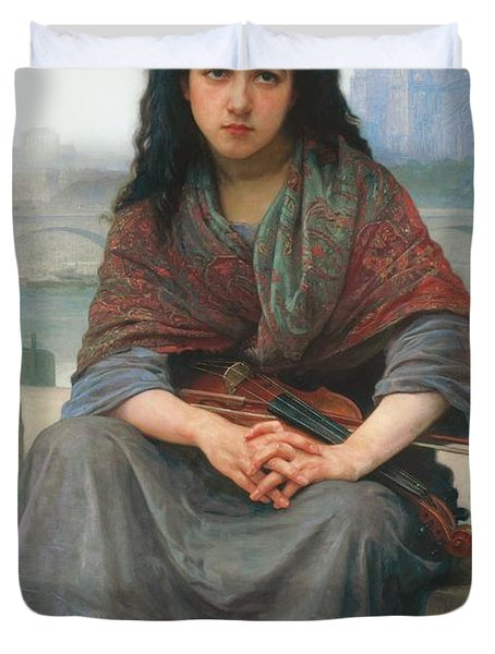 The Bohemian Duvet Cover by William Adolphe Bouguereau