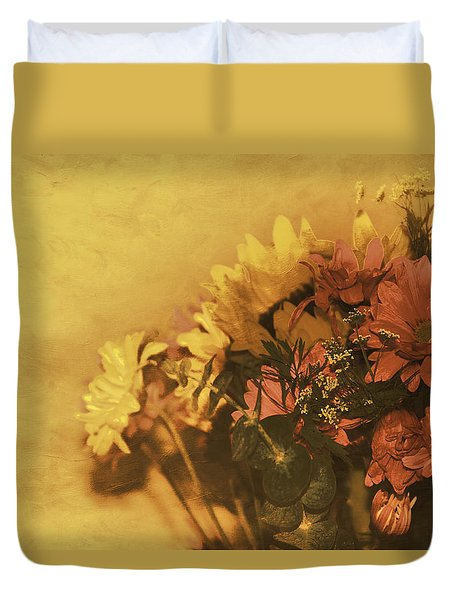 The Bouquet Duvet Cover by Diane Schuster