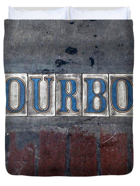 The Bourbon Street Sign Duvet Cover by Joseph Baril