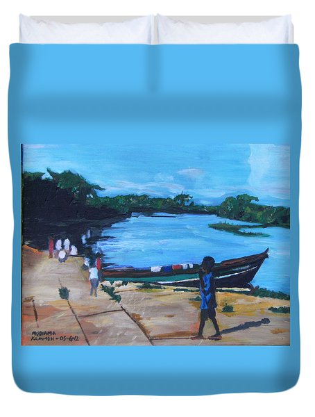The Boy Porter  Sierra Leone Duvet Cover by Mudiama Kammoh