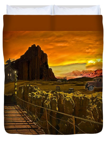 The Bridge Duvet Cover by Gerry Robins