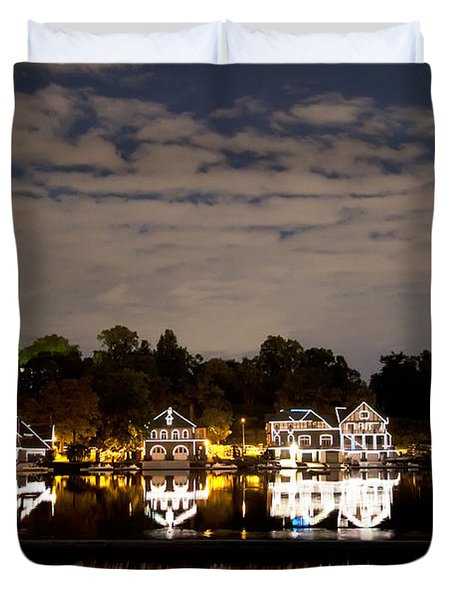 The Bright Lights Of Boathouse Row Duvet Cover by Bill Cannon