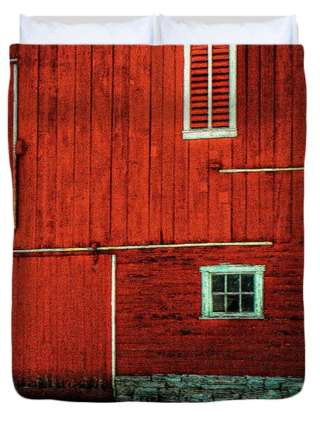 The Broad Side Of A Barn Duvet Cover by Lois Bryan