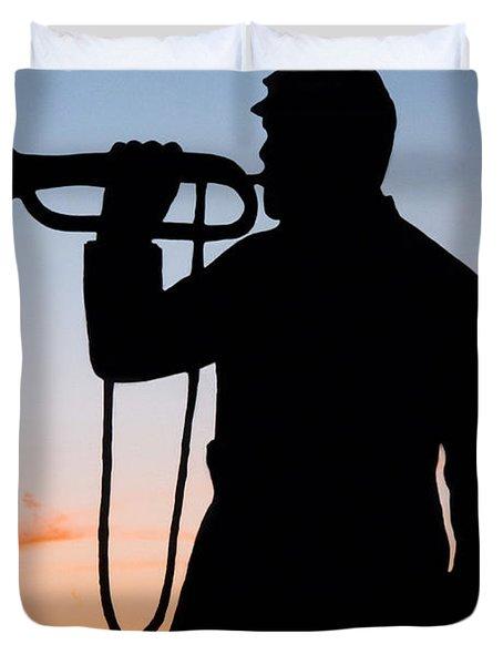 The Bugler Duvet Cover by Karen Lee Ensley