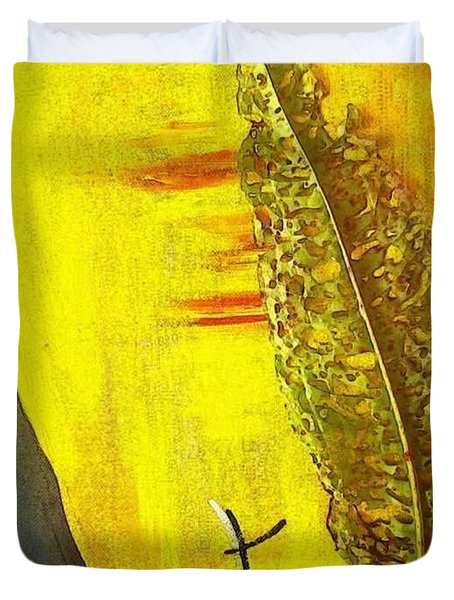 The Bugs Got To It First Duvet Cover by PainterArtist FIN