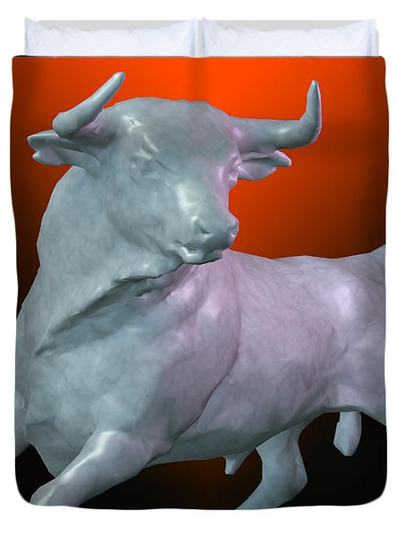The Bull... Duvet Cover by Tim Fillingim