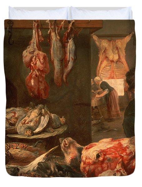 The Butcher's Shop Duvet Cover by Frans Snyders