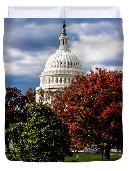 The Capitol Duvet Cover by Greg Fortier