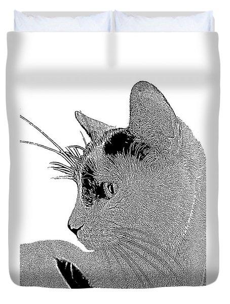 The Cat Duvet Cover by Ben and Raisa Gertsberg