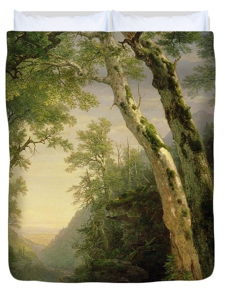 The Catskills Duvet Cover by Asher Brown Durand