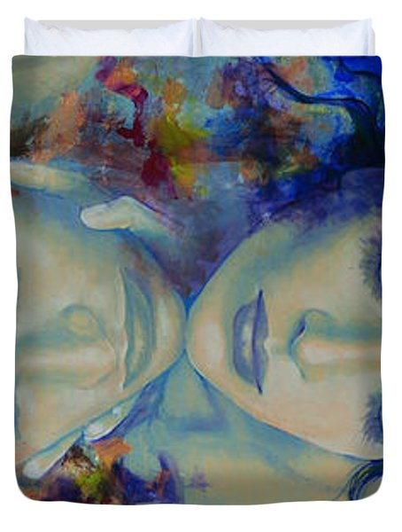 The Celestial Consonance Duvet Cover by Dorina  Costras