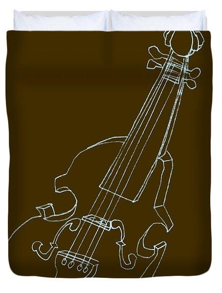 The Cello Duvet Cover by Michelle Calkins