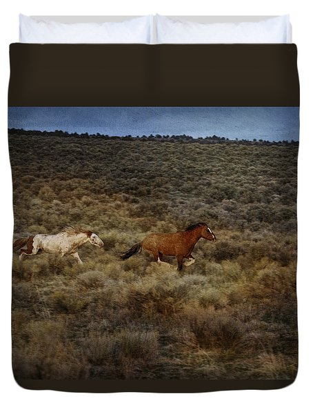 The Chase Is On D1215 Duvet Cover by Wes and Dotty Weber