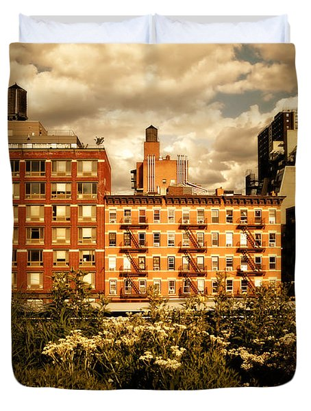 The Chelsea Skyline - High Line Park - New York City Duvet Cover by Vivienne Gucwa