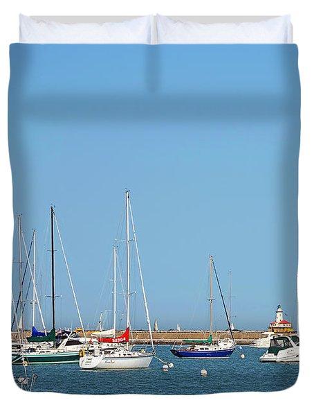 The Chicago Lighthouse Duvet Cover by Christine Till