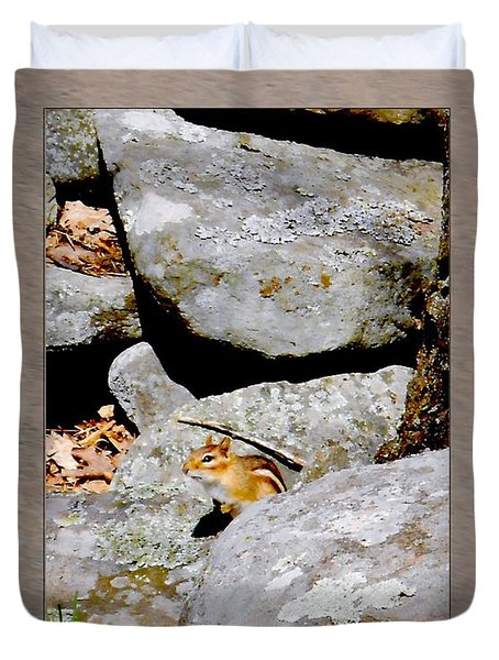 The Chipmunk Duvet Cover by Patricia Keller