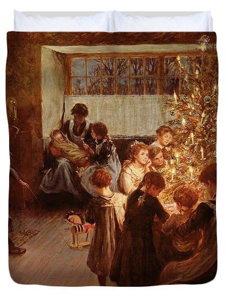 The Christmas Tree Duvet Cover by Albert Chevallier Tayler