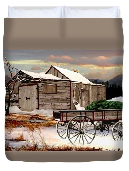 The Christmas Tree Duvet Cover by Ronald Chambers
