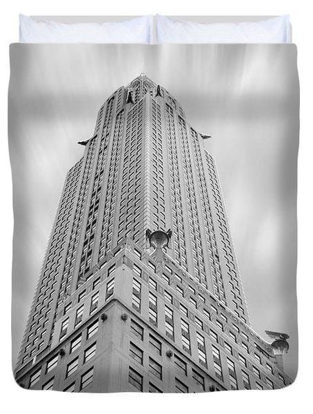 The Chrysler Building Duvet Cover by Mike McGlothlen