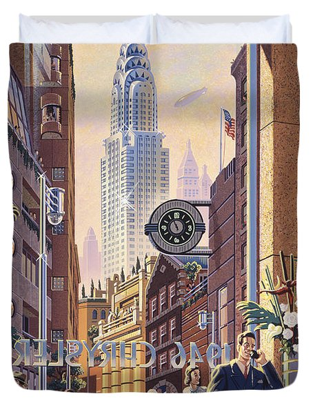 The Chrysler Duvet Cover by Michael Young