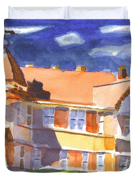 The Church On Shepherd Street II Duvet Cover by Kip DeVore