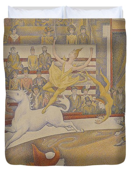 The Circus Duvet Cover by Georges Pierre Seurat