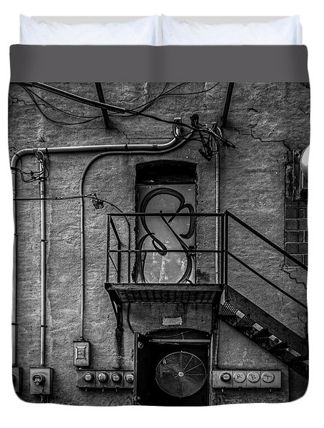 The City Is A Poem  Duvet Cover by Bob Orsillo