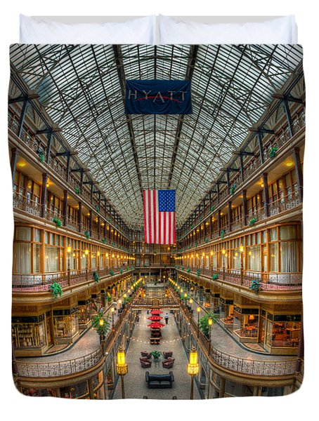 The Cleveland Arcade Vii Duvet Cover by Clarence Holmes