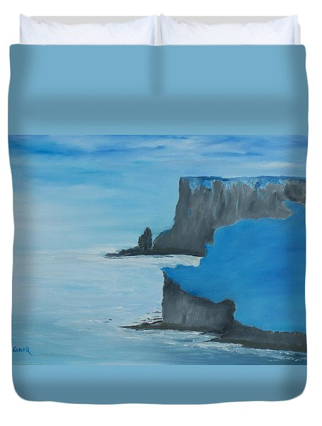 The Cliffs Of Moher Duvet Cover by Conor Murphy